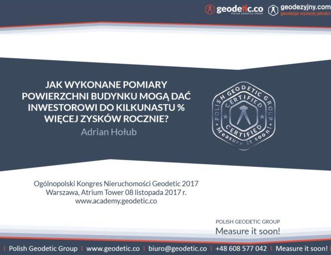 Adrian Hołub_Kongres Geodetic 2017